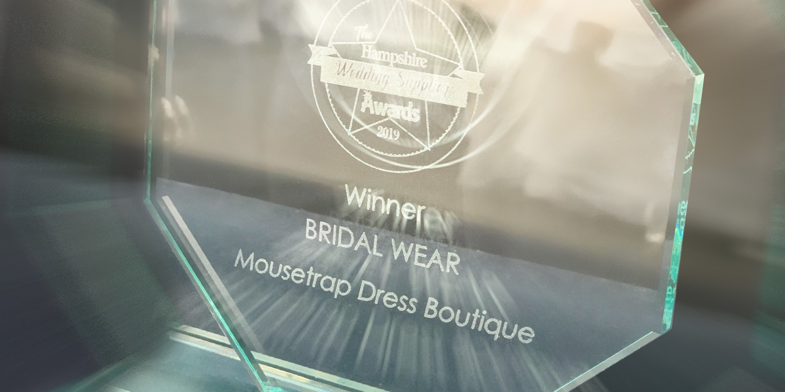 Hampshire Wedding Supplier Best in Bridalwear Winner 2019 & TWIA Best in Bridalwear Winner 2020